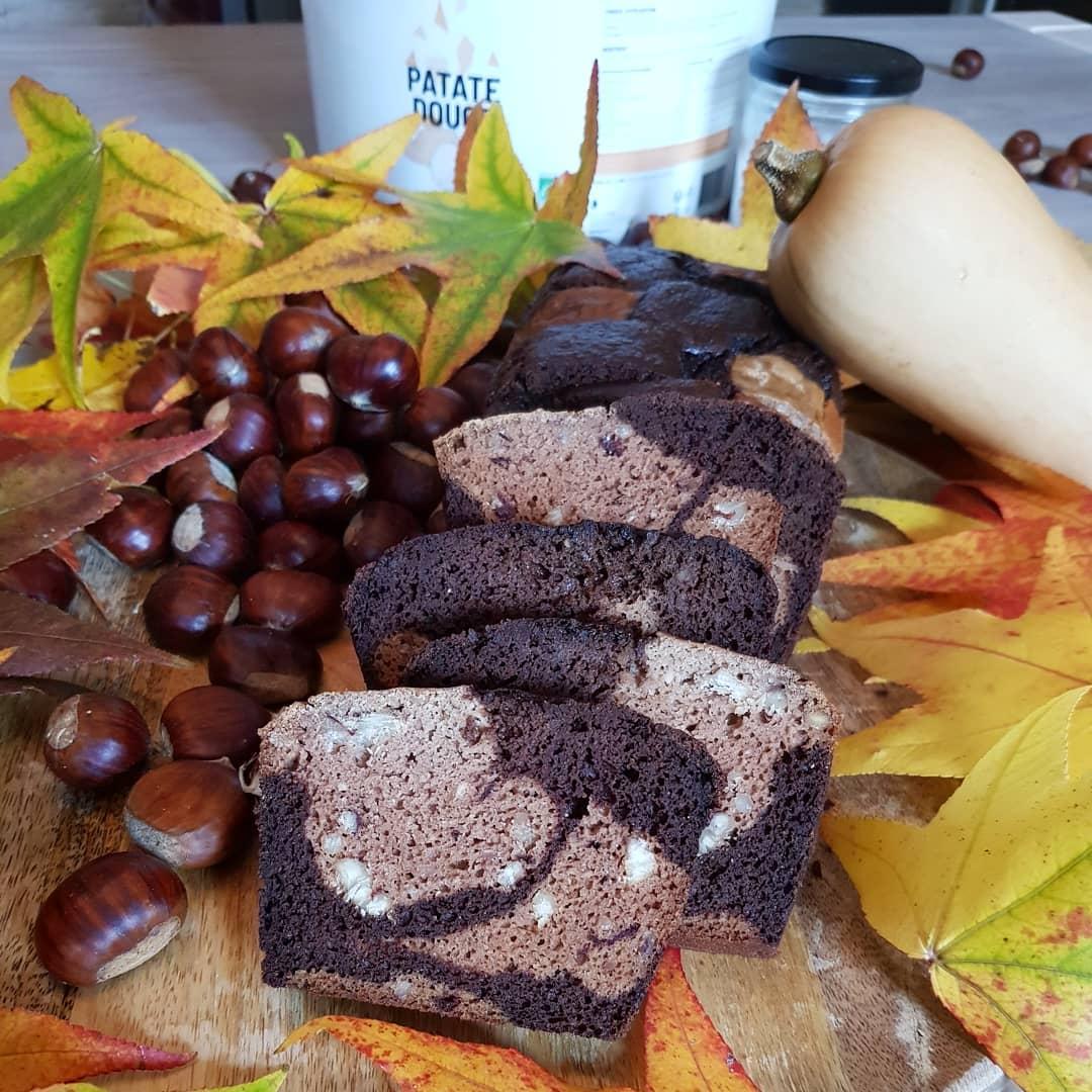 Cake châtaignes chocolat butternut