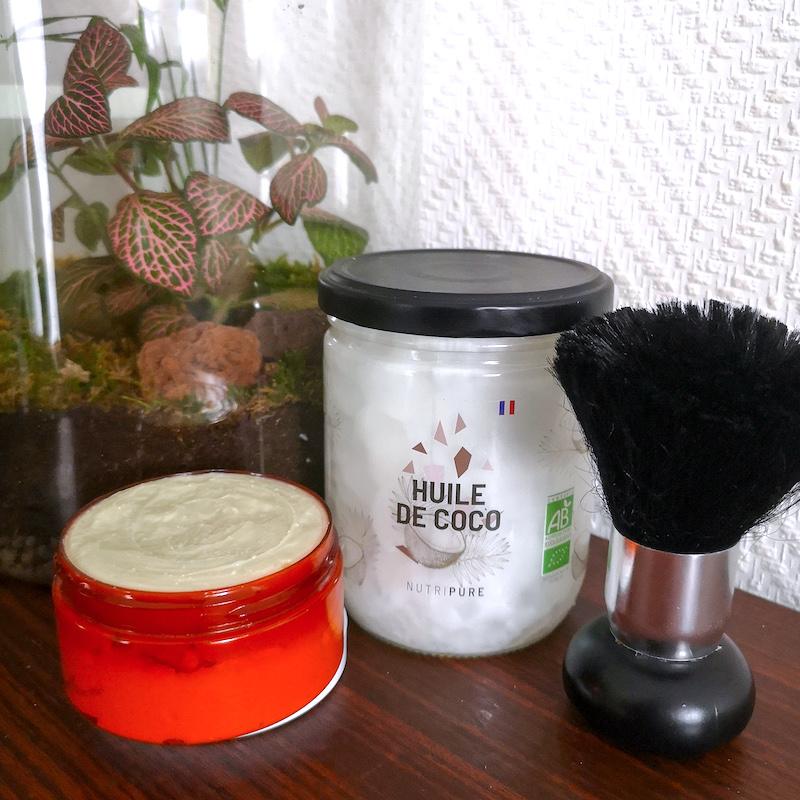 diy huile de coco bio recette mousse à raser