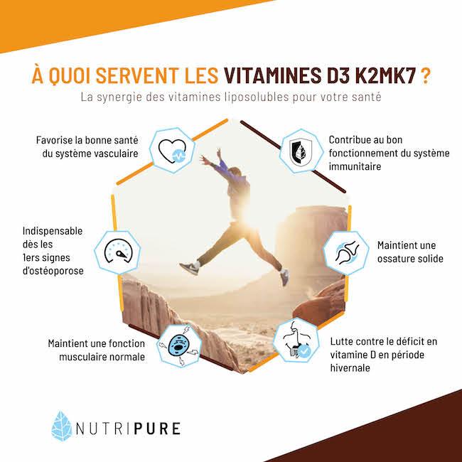 bienfaits vitamine d3 K2