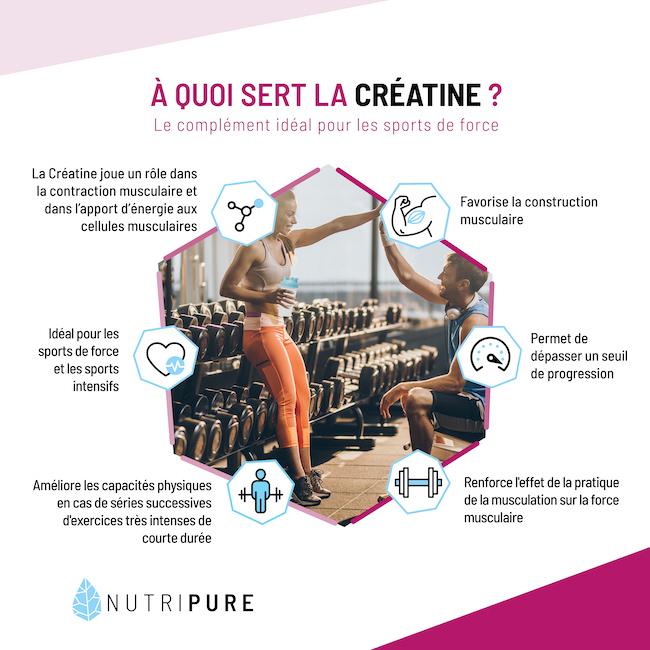 A quoi sert la créatine creapure nutripure ?