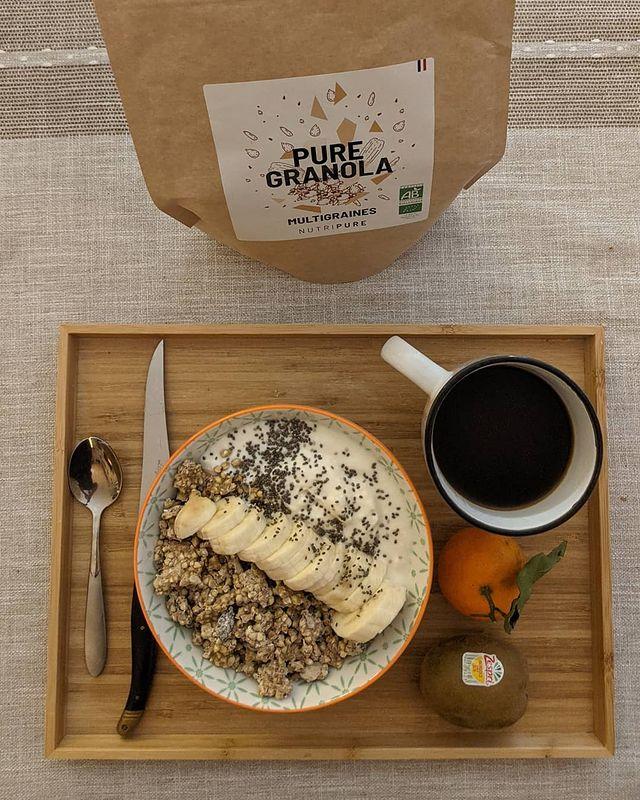 petit-déjeuner sain granola